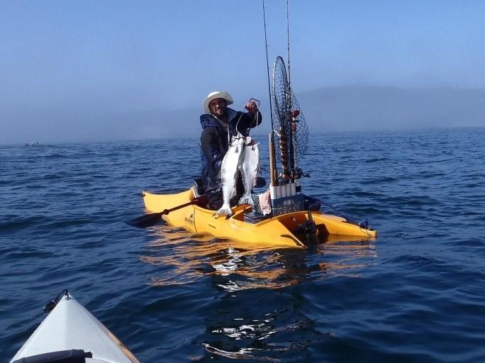 fishing kayak in the ocean
