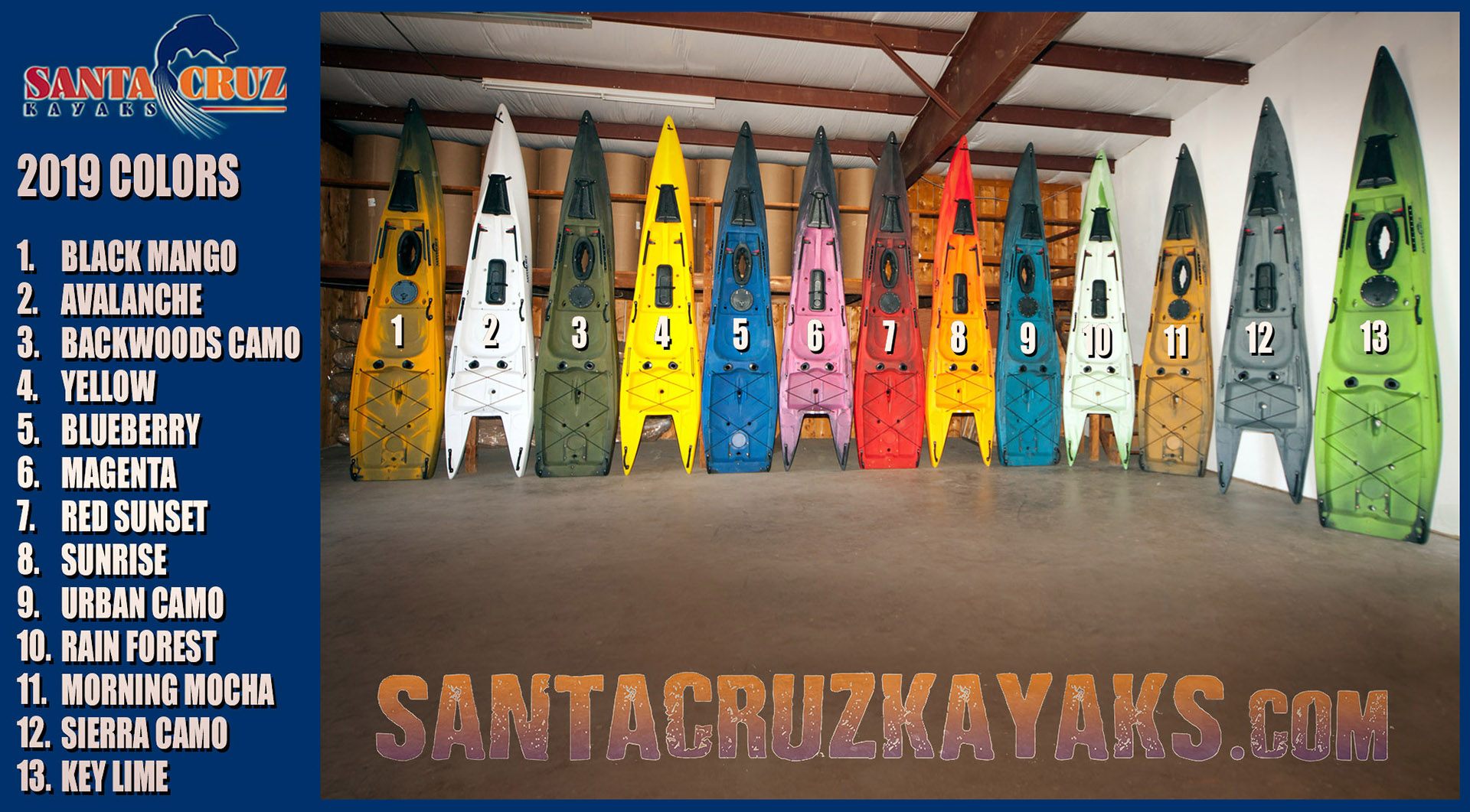 Santa Cruz Kayaks 2019 Color Options