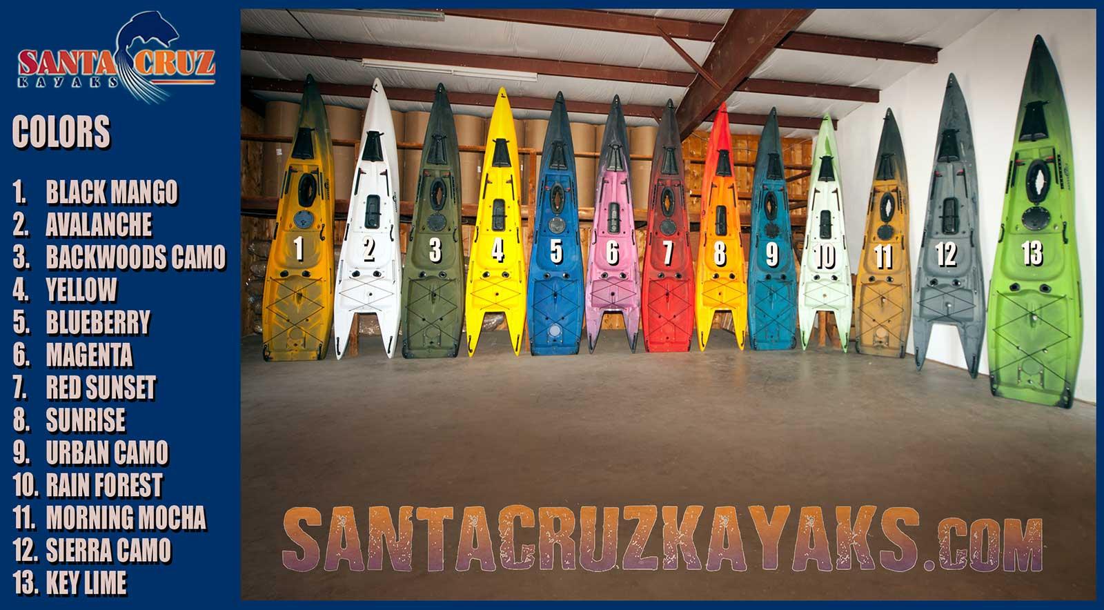 Santa Cruz Kayaks color options