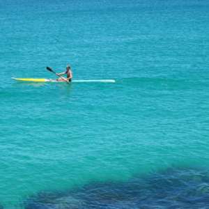kayak in the sea