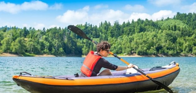 inflatable kayaking for workout